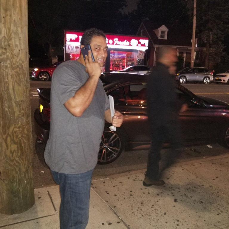 "Jerry ""Fast Feet"" Fontanez Outside Mamijuana's Cafe, Bronx, NY"