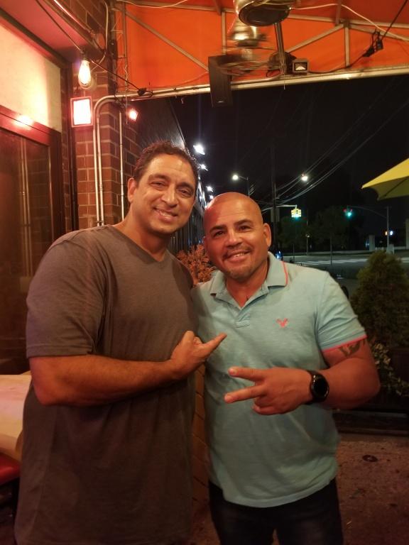"""Jerry """"Fast Feet"""" Fontanez & Willie Padilla (Owner) - Mamajuana's Cafe, Bronx, NY"""